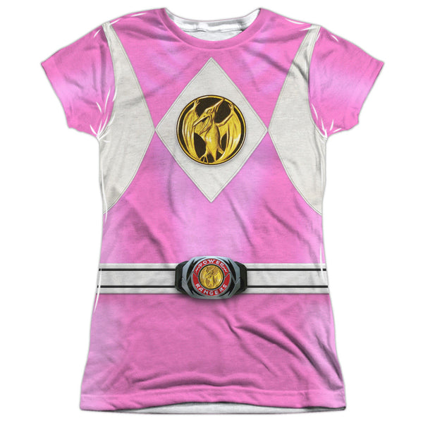 Power Rangers Pink Costume Uniform Sublimation t-shirt