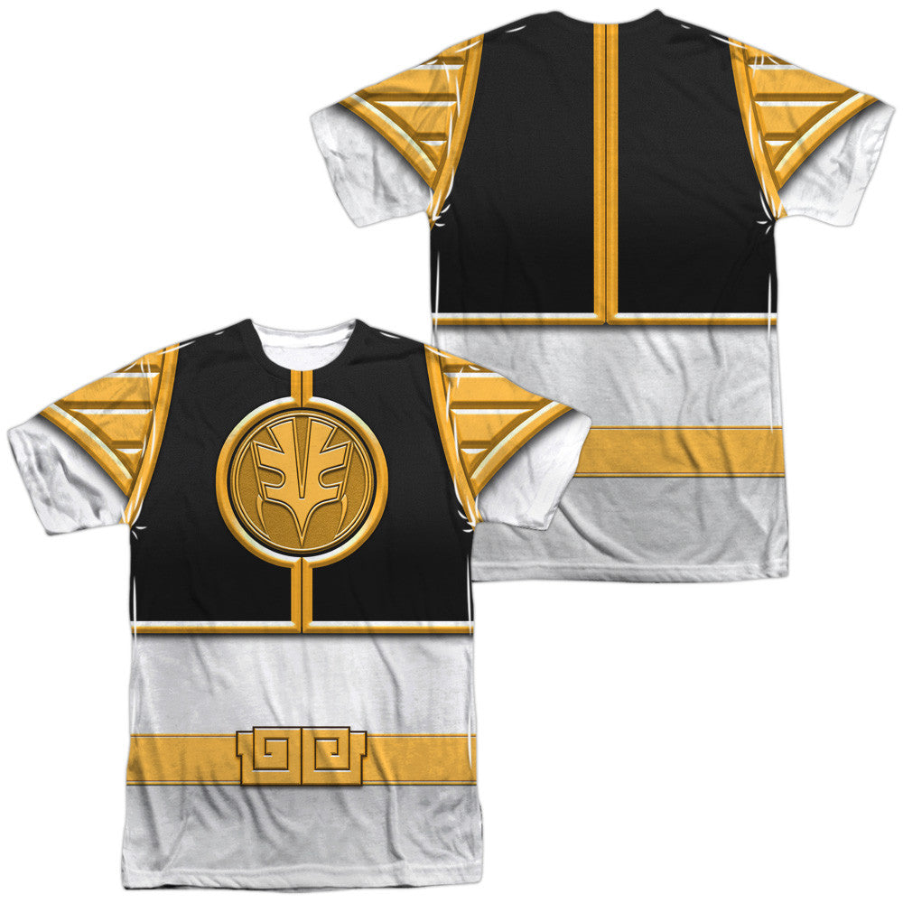 Power Rangers White Costume Uniform Sublimation t-shirt