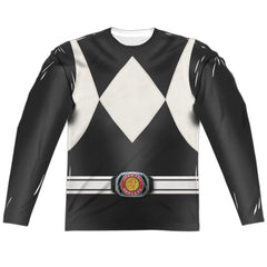 Power Rangers Black Costume Uniform Sublimation t-shirt