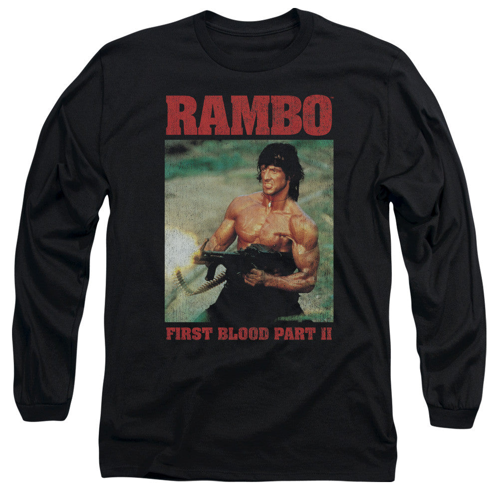 Rambo Movie Shooting Shells t-shirt