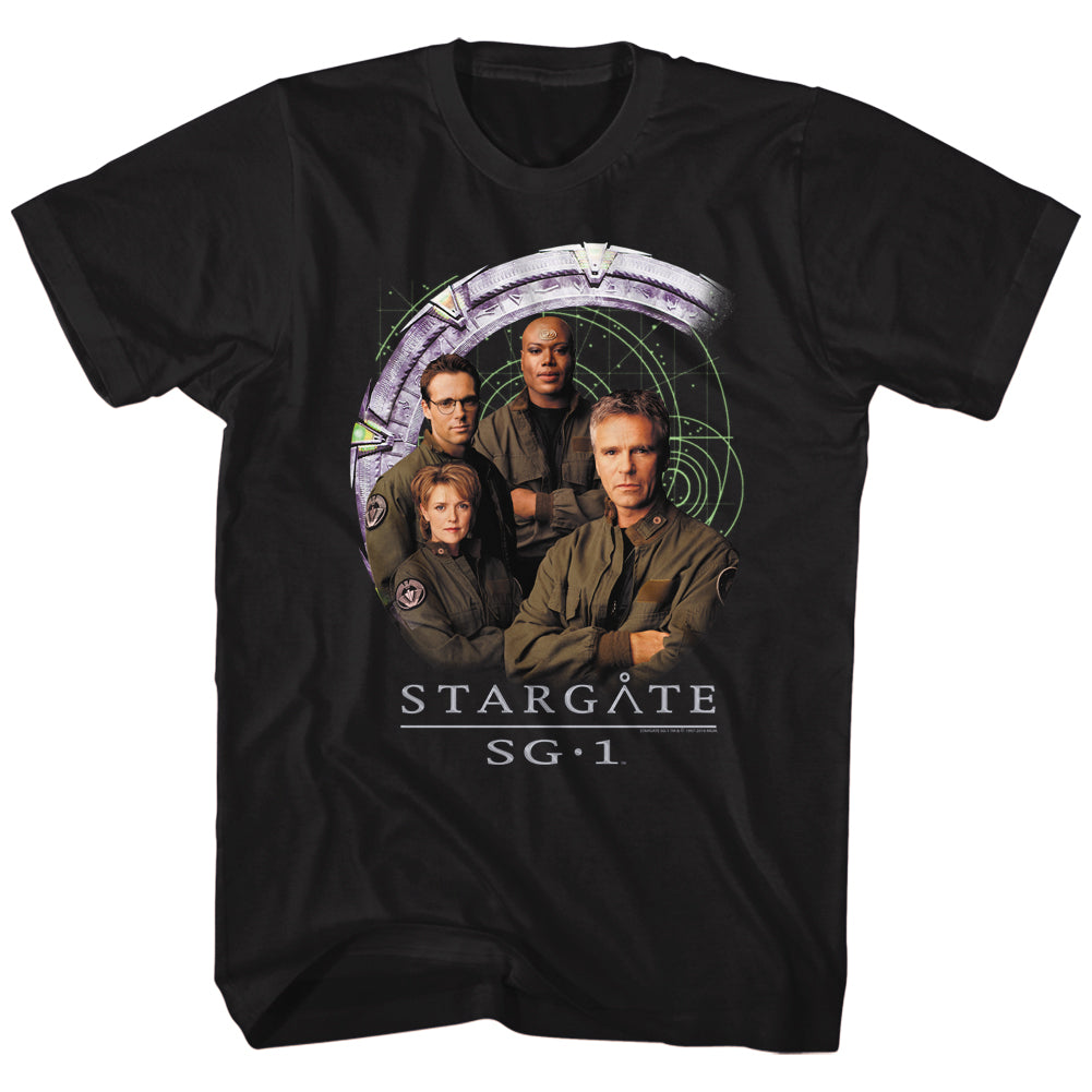 Stargate SG-1 - Cast and Gate T-Shirt
