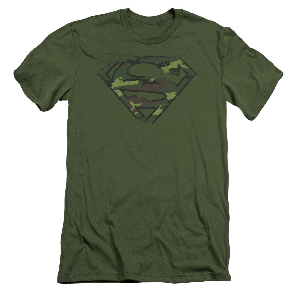 Superman Logo - Military Camouflage Army Green t-shirt