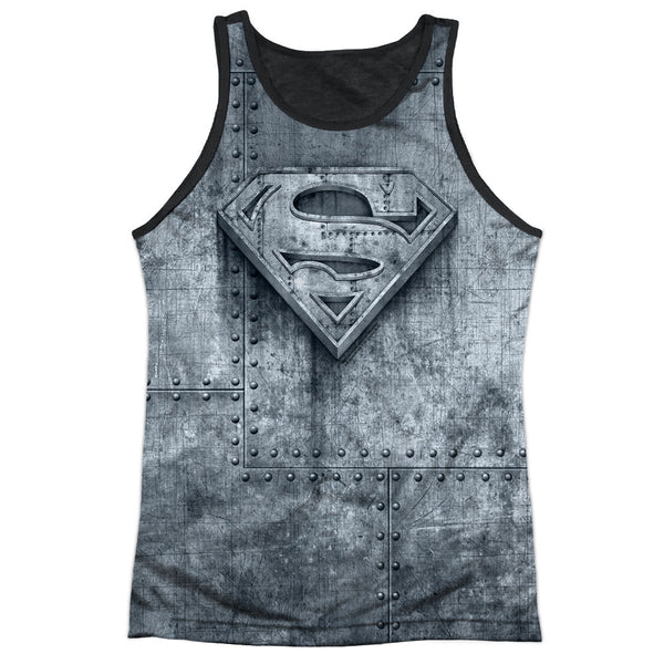 Superman Made of Steel Logo Shield Sublimation Tank Top
