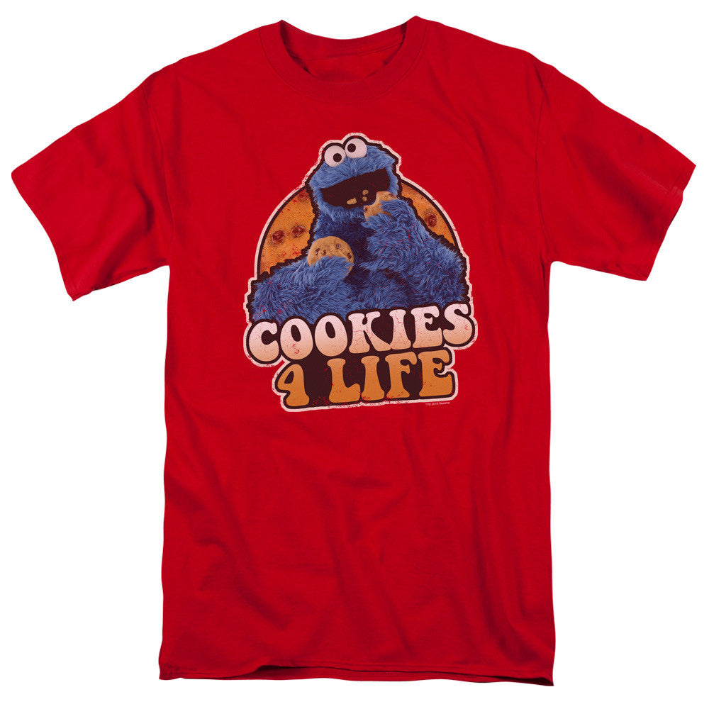 Sesame Street - Cookie Monster Cookies 4 Life t-shirt
