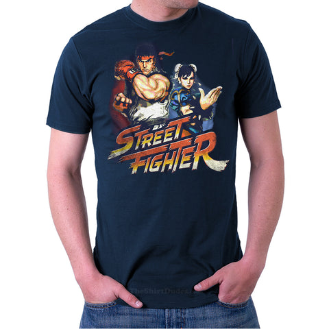 Street Fighter - Ryu & Chun-Li T-Shirt