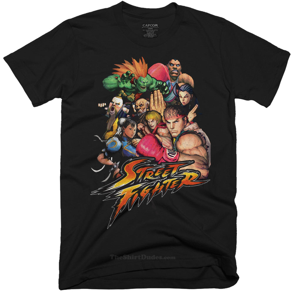 Street Fighter - Video Game Characters T-Shirt