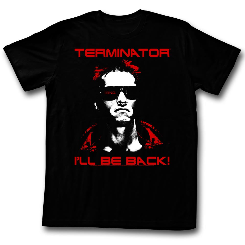 Terminator - I'll Be Back (red text) T-Shirt