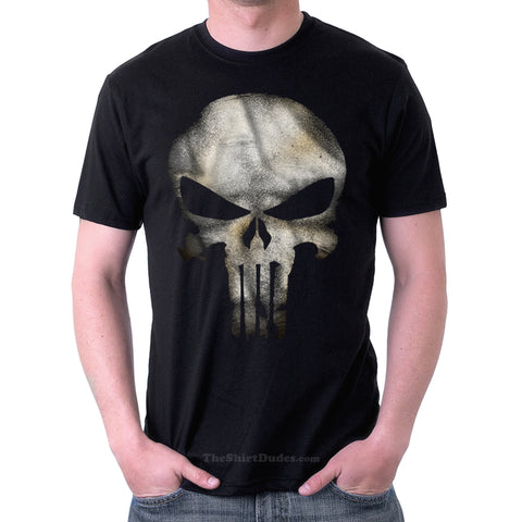 The Punisher Vintage Logo Costume Cosplay T-Shirt