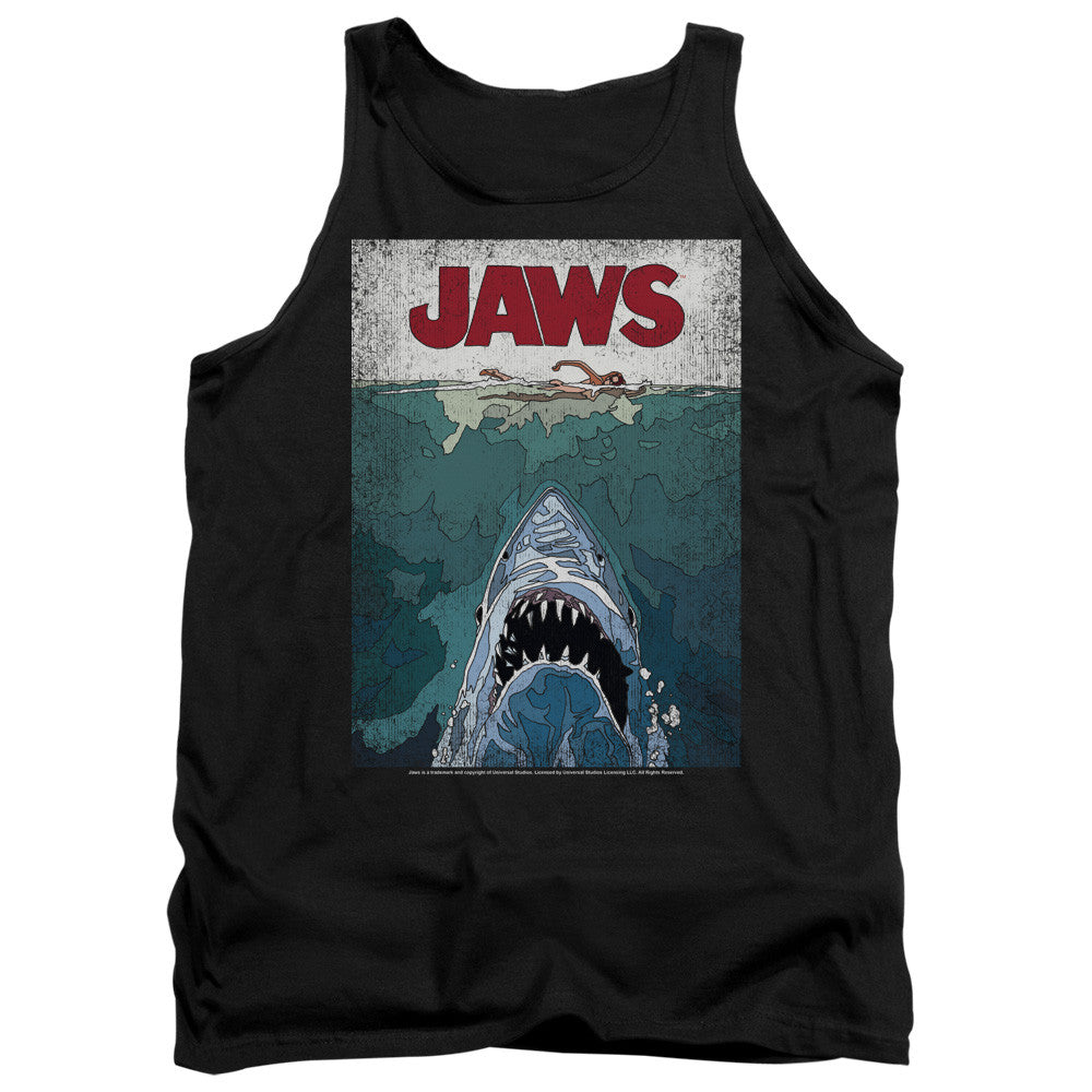 Jaws Lined Movie Poster t-shirt