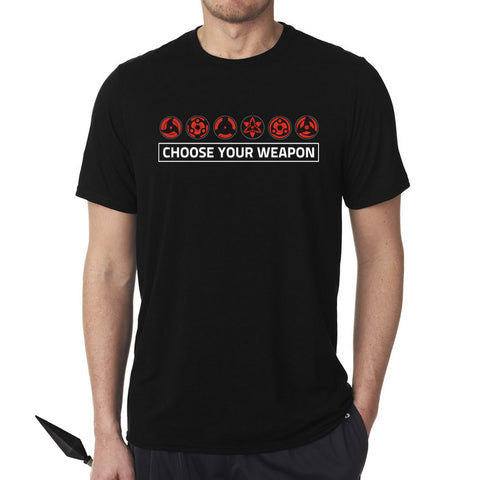 Sharingans - Choose Your Weapon T-Shirt