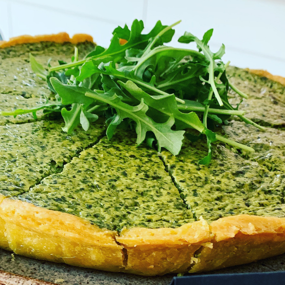 Organic Spinach, Herb & Cheese Tart