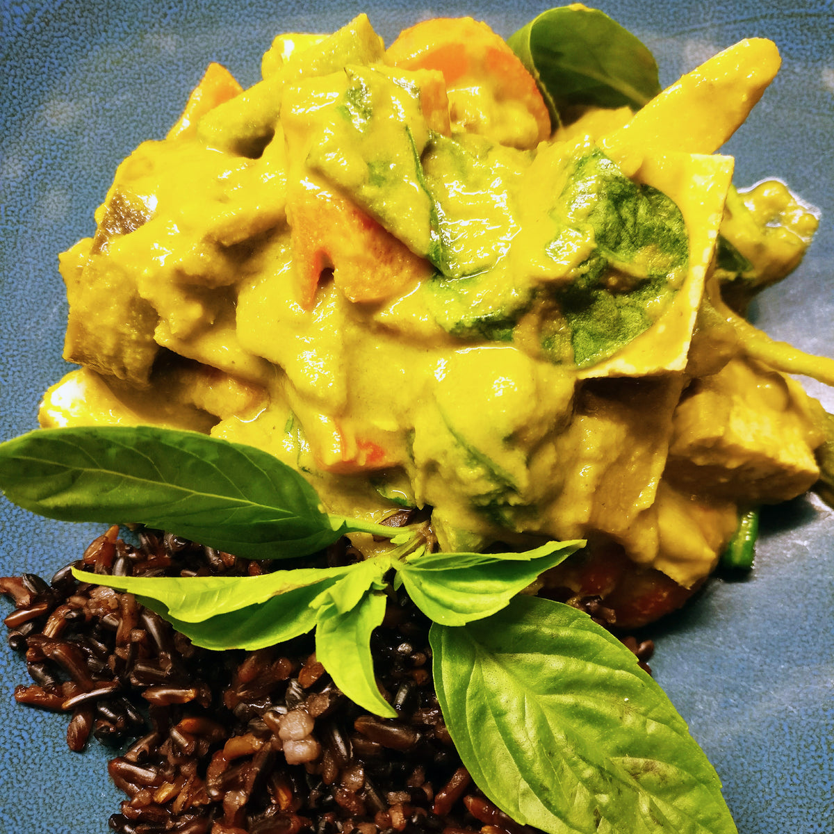 Vegan Thai Curry with Black Rice
