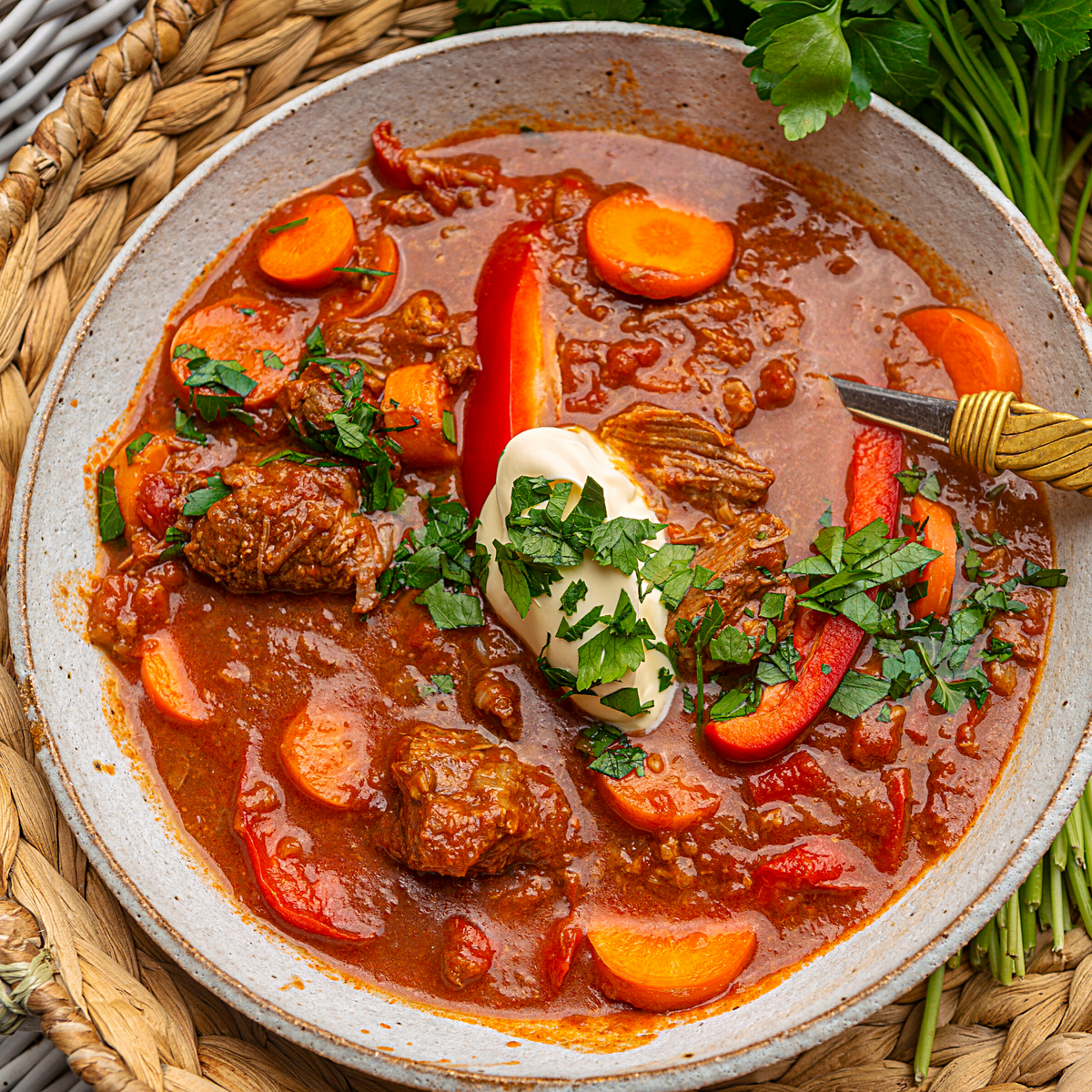 Slow Cooked Hungarian Beef Goulash Food St