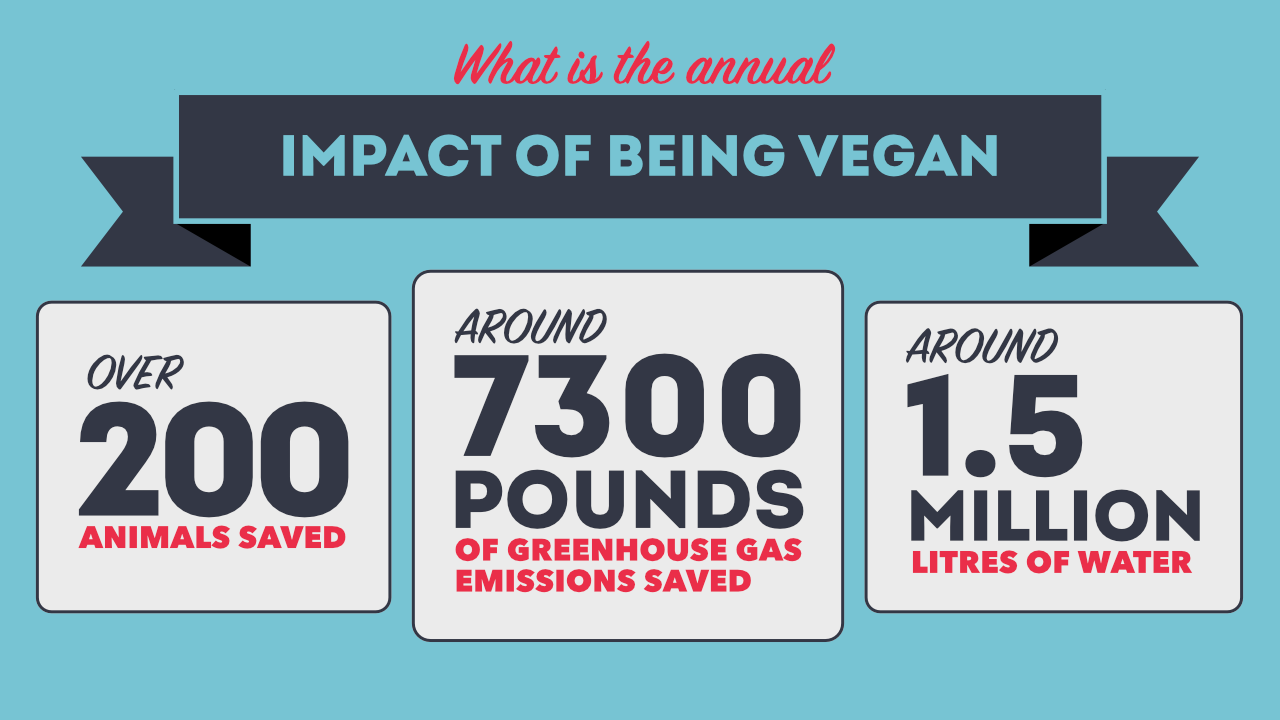 The annual impact of being vegan