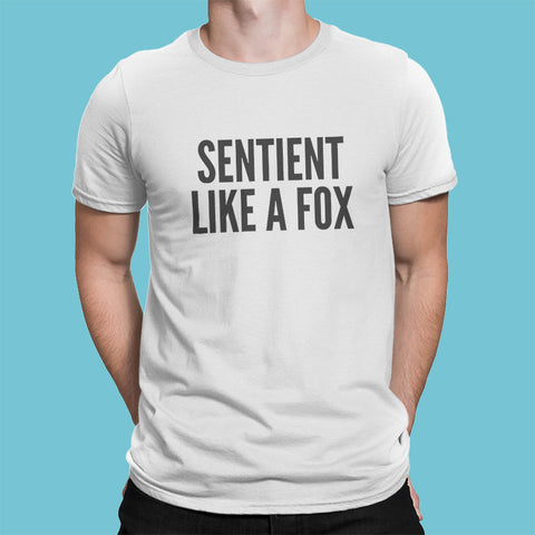 Sentient Like a Fox men's t-shirt