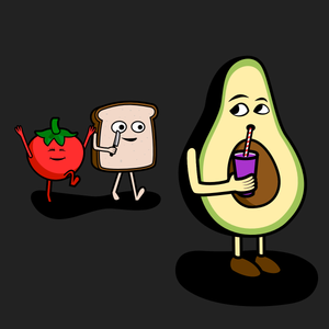 Avocado And Tomato Are Toast men's t-shirt