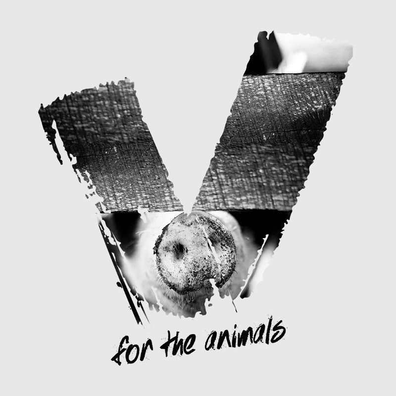 V for the Animals women's t-shirt