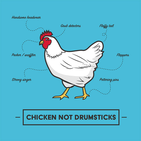 Chicken Not Drumsticks men's t-shirt
