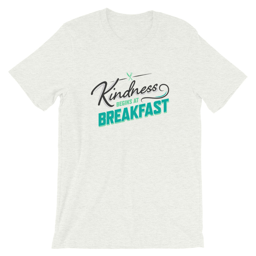 Kindness Begins at Breakfast men's t-shirt