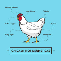 Chicken Not Drumsticks women's t-shirt