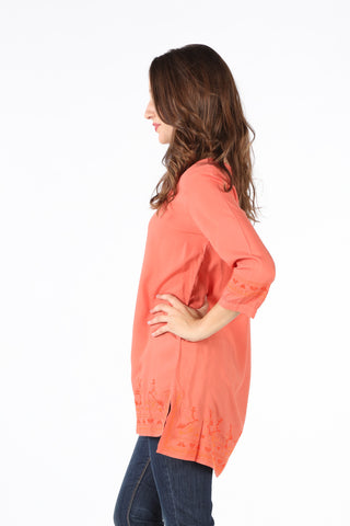 8060 Rust Embroidered Tunic