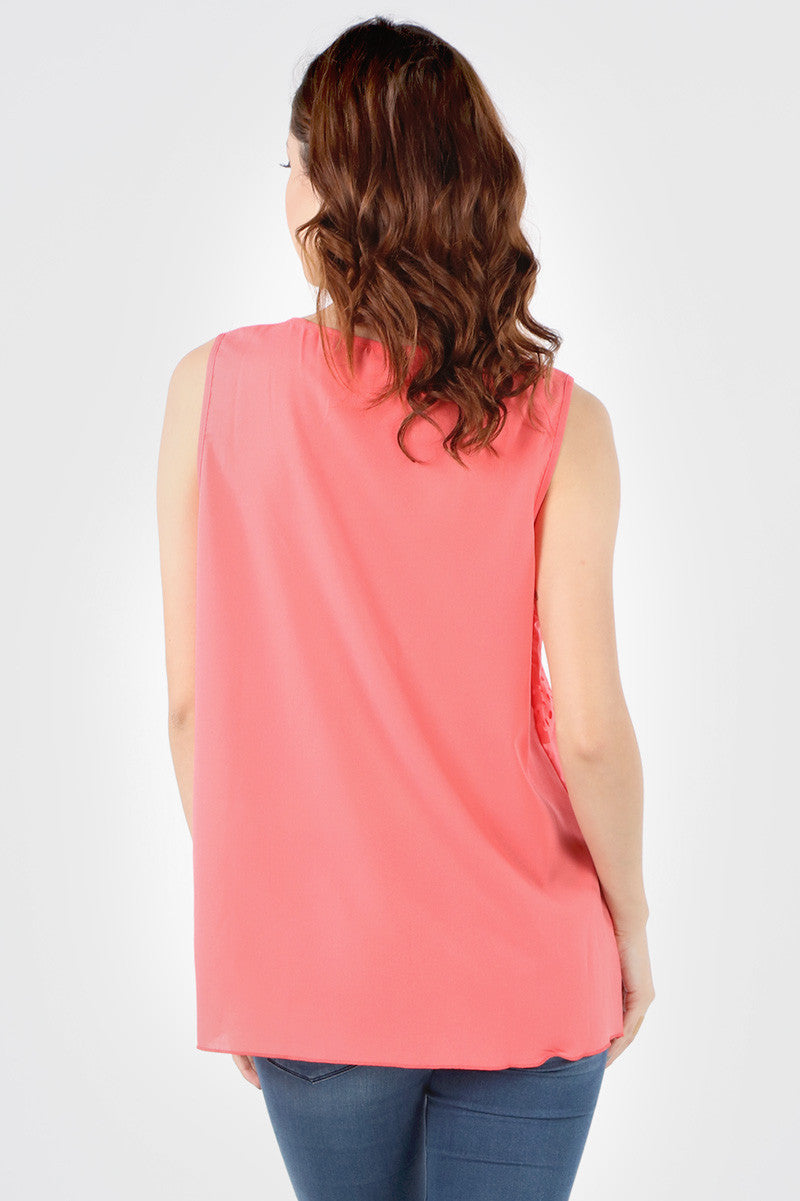 8168 Coral Layered Cut Out Tank