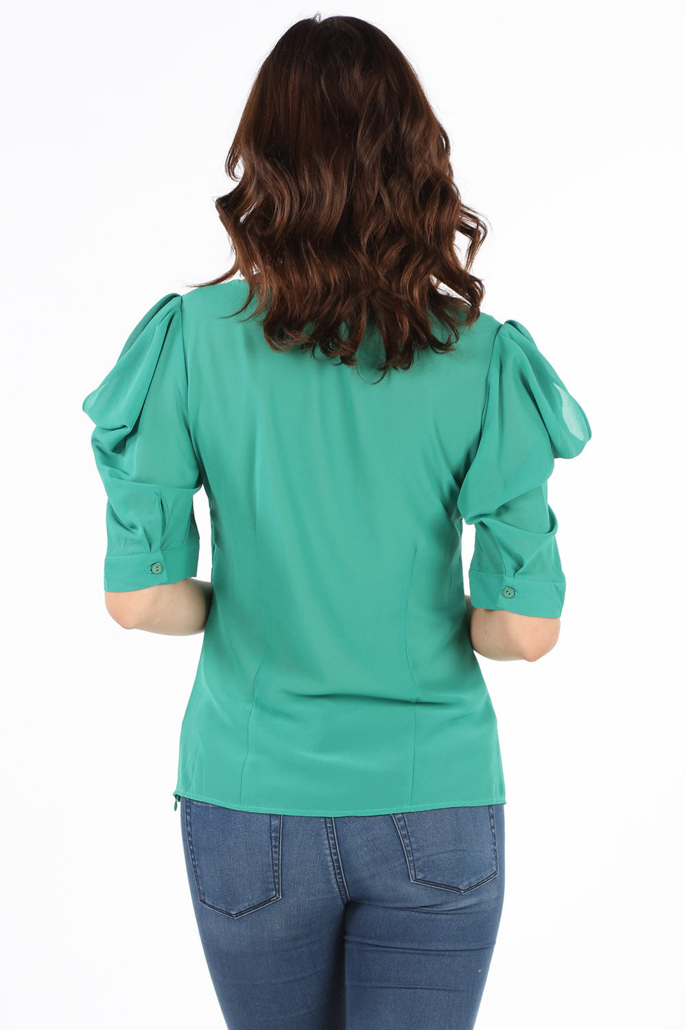 8409 Emerald Beaded Fancy Blouse
