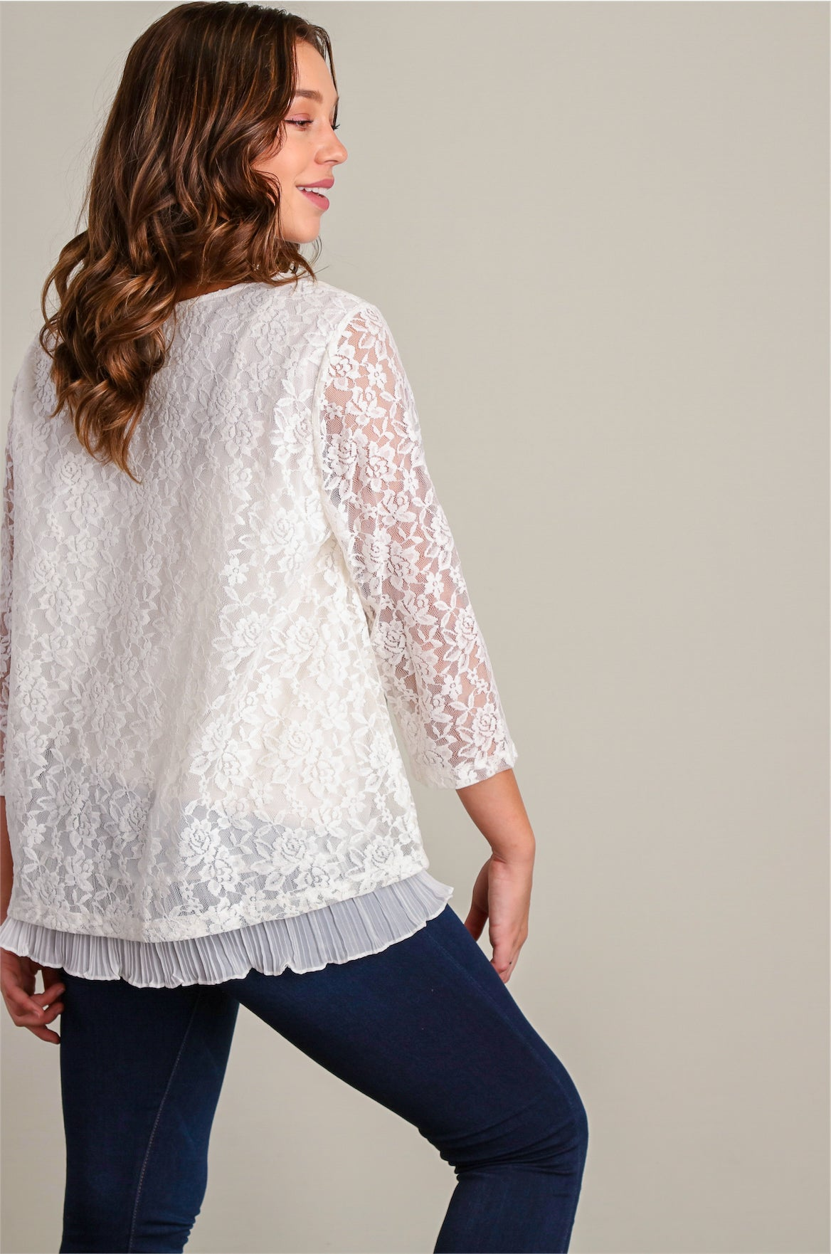 Plus White Lace And Pearl Dressy Blouse Forgottengraceonline