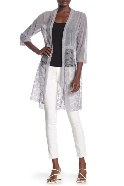 MESH LACE PEARLS DUSTER