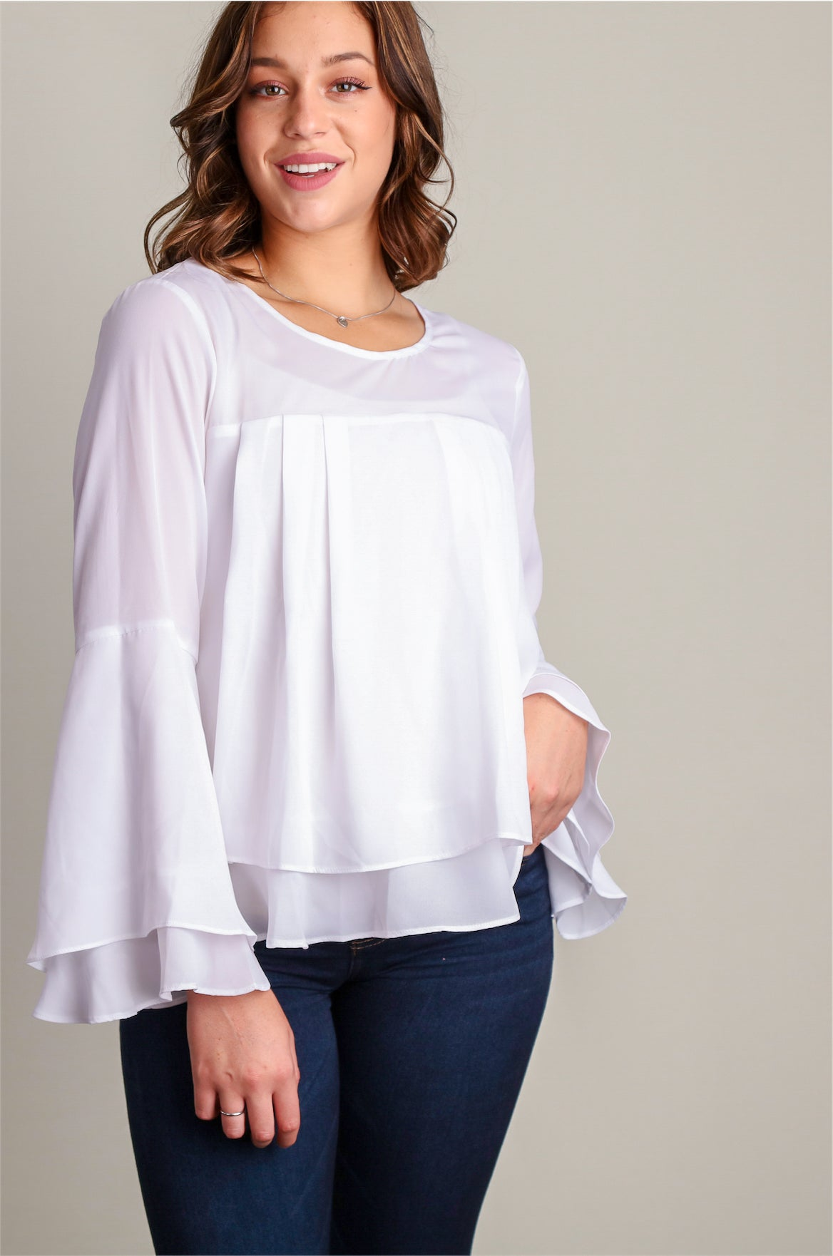 Plus White Dress Me Up Blouse