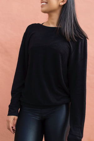 The Get It Pullover: Black
