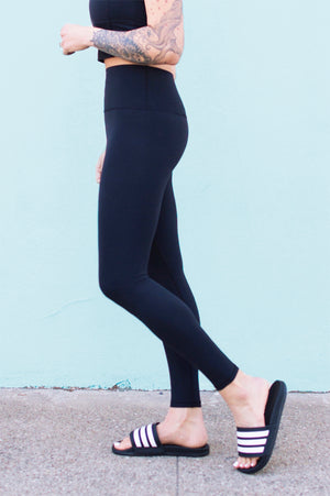 High Waist Pure Legging (Black)