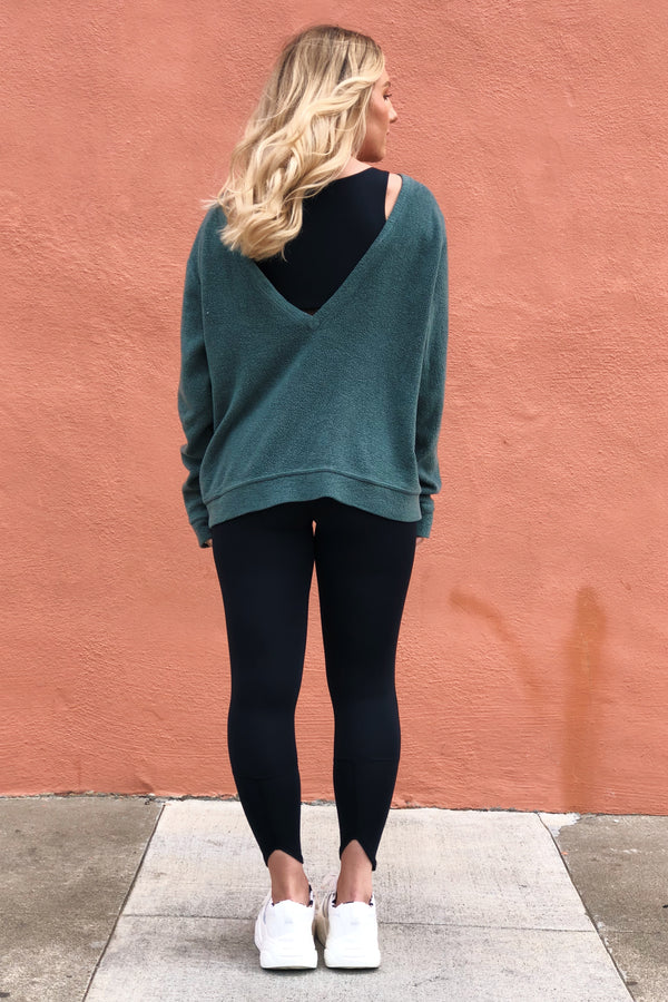The Get It Pullover: Evergreen Sherpa