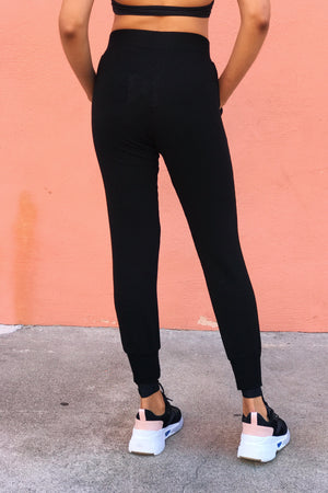 Supersoft High Waist Lace Up Sweats with Cuffs