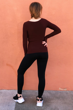 Seamless Boatneck Top