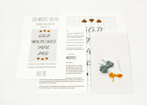 Do it yourself knot so nice god watches you pee diy cross stitch kit solutioingenieria Choice Image
