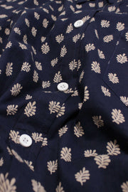 Folk Shirt - Navy