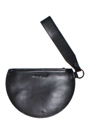 Half Moon Leather Wristlet