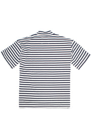 Striped Mock Neck Tee
