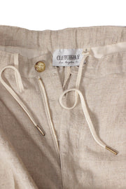 Pleated Linen Pants