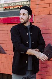 Men's Shop Coat - Black