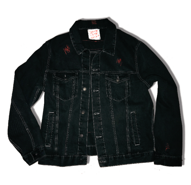 Your Club Sucks Denim Jacket (Black)