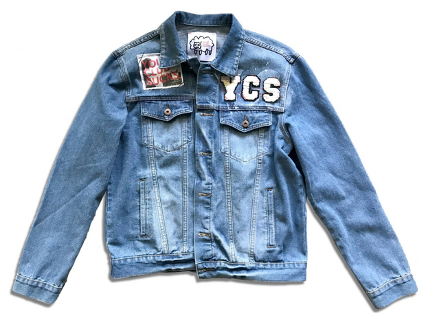 Your Club Sucks Denim Jacket (Blue)