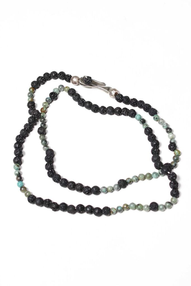 """Create"" Lava Rock and Turquoise Necklace"