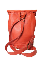 The Taylor Drawstring Backpack - Deep Orange