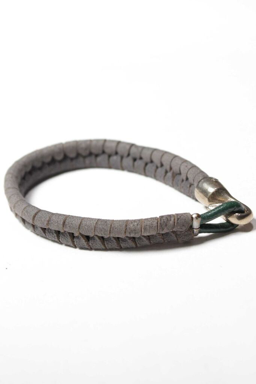 Harpoon Bracelet with Slate Suede