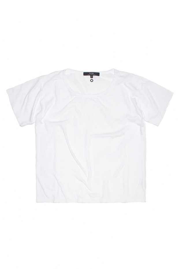 SOB - Billie Box Cropped T Shirt (White)