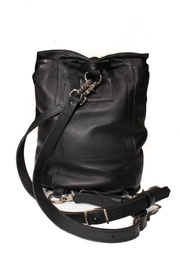 The Taylor Drawstring Backpack -Black and Silver