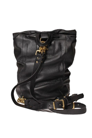 The Taylor Drawstring Backpack -Black and Gold