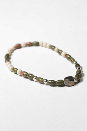 """I and I"" Unakite and Riverstone Bracelet"